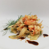 Squids, prawns and fennel salad