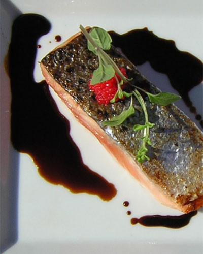 Salmon with Saba and horseradish sauce